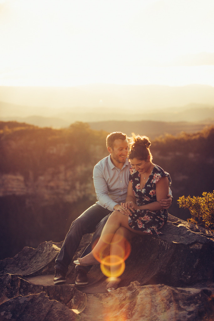 Shantel and Josh sharing an intimate moment at the engagement photography session photograped by de lumière photography