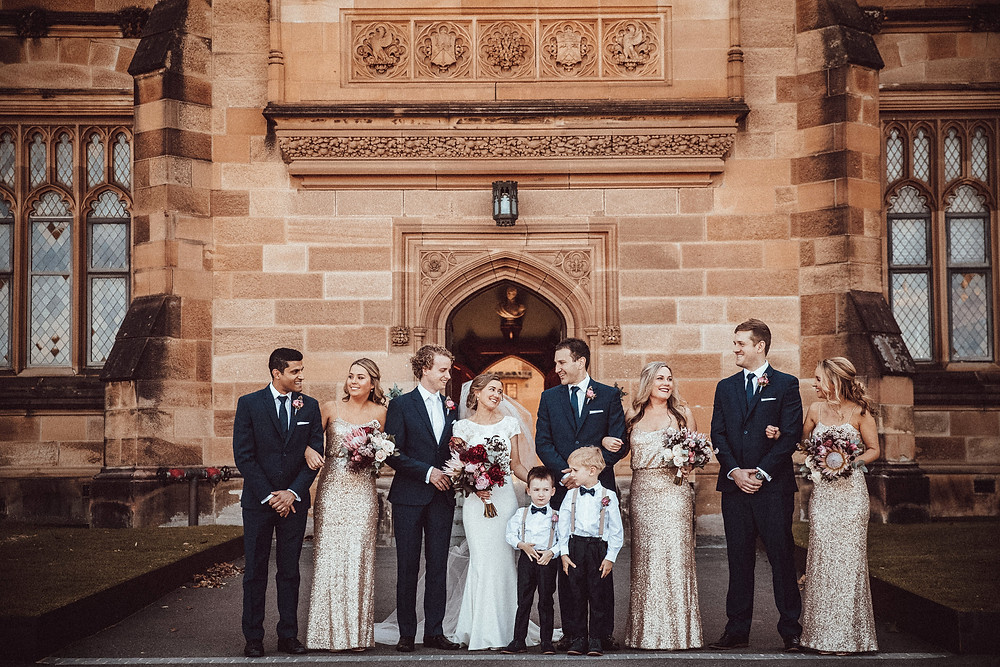 modern classic wedding photographer sydney university