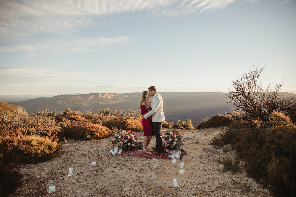 surprise proposal blue mountains sydney wedding photographer