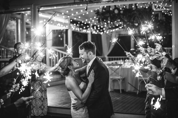 Jennah and David's Wedding Sparkler Exit