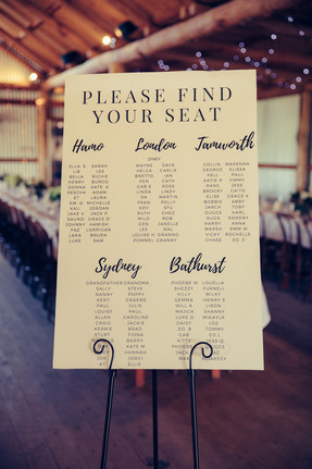 professional wedding photography seating plan
