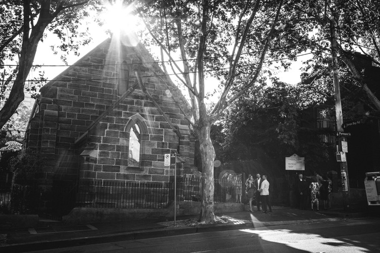 St Bedes Church Pyrmony, Sydney photographed by de lumière photography