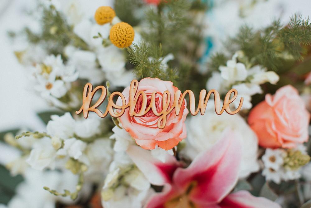 personalised wedding name setting