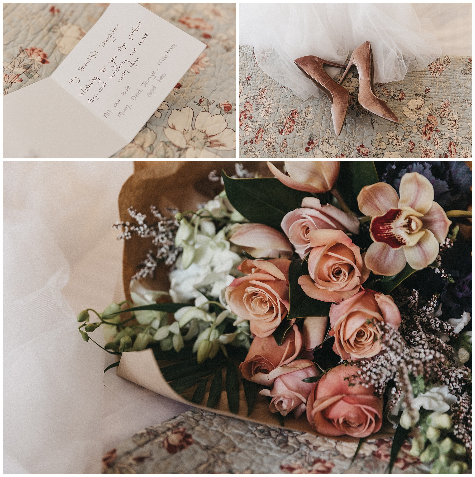 Wedding day inspiration - wedding flowers, love letters and the veil