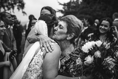 grandmother congratulates bride country wedding de lumiere photography