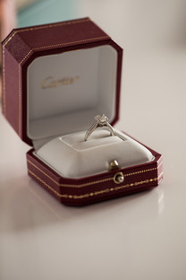 cariter engagement ring in box