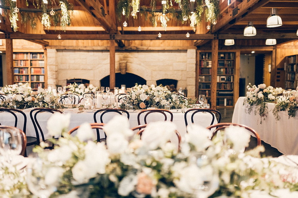 luxury styling the book barn bendooley estate destination wedding venue