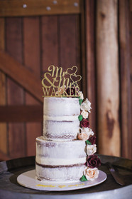 wedding cake with custom topper country wedding de lumiere photography