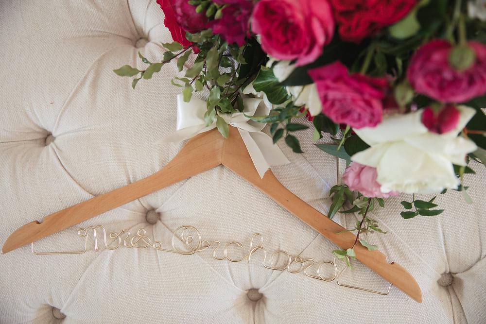 personalised coat hanger de lumiere photography destination wedding photographer