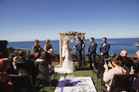 Outdoor ceremony overlooking Whale Beach