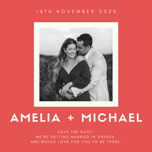 save the date card by sydney wedding photographer de lumiere photography