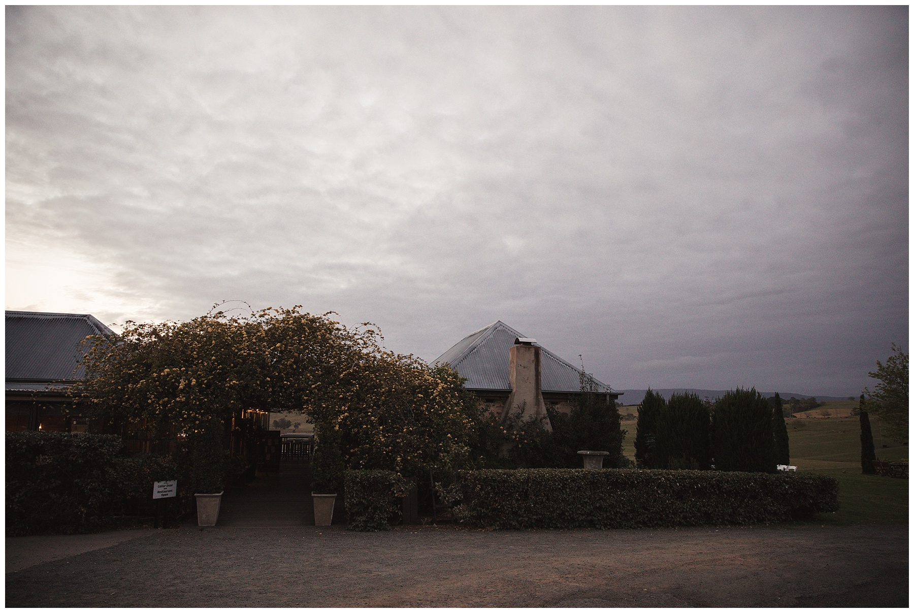 Cupitts Winery at dusk