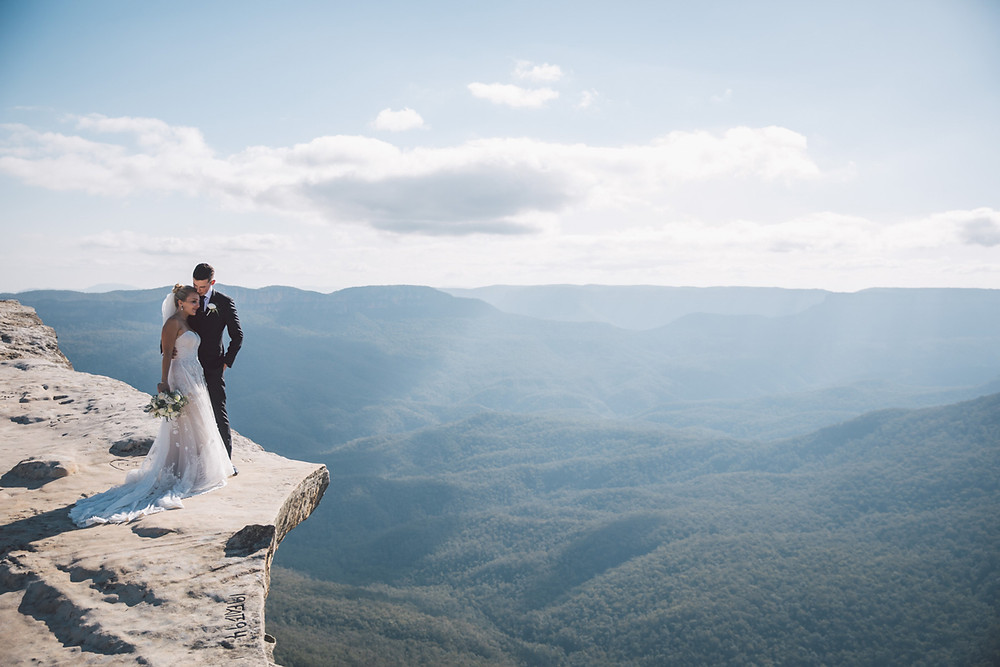 professional wedding photographer blue mountains