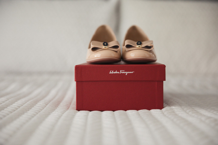 Salvatore Ferragamo wedding shoes photographed by Sydney Wedding Photographers de lumière photography