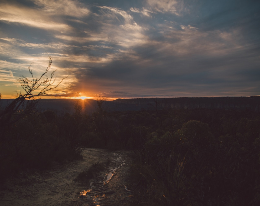 Gorgeous sunset over Wentworth Falls