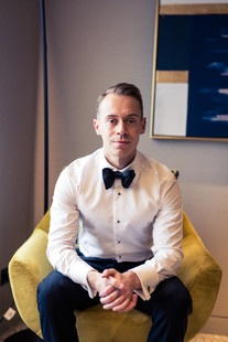portrait of the groom by de lumiere photography