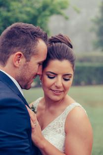 Close up portrait of bride and groom by Sydney Wedding Photographers de lumière photography