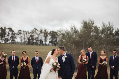 bridal and groom kissing country wedding de lumiere photography