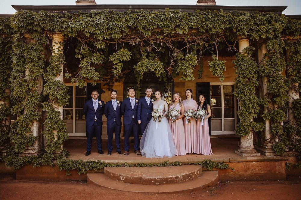 Bridal location portraits at Bendooley Estate