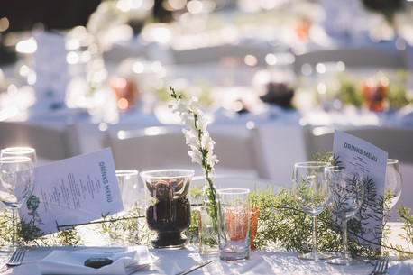 wedding reception styling with succulents by blooms and scents