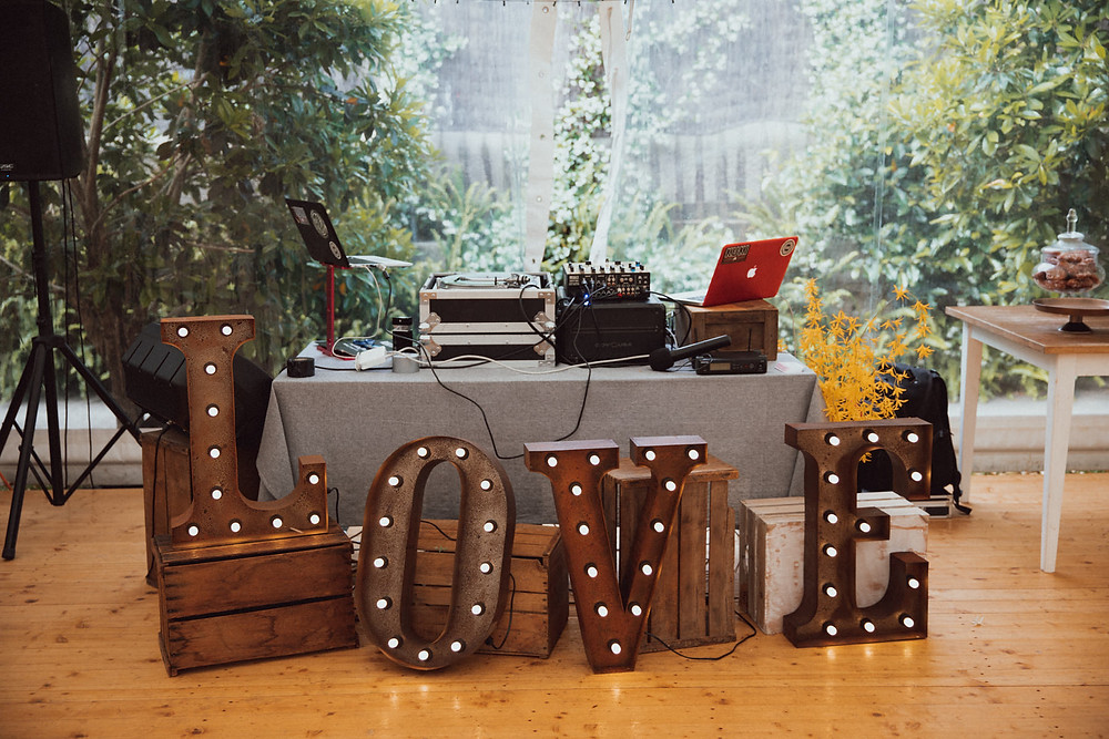 wedding styling love sign