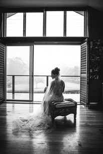 The Bride captured against a misty backdrop by de lumière photography
