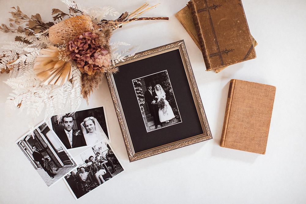 family heirlooms wedding photos
