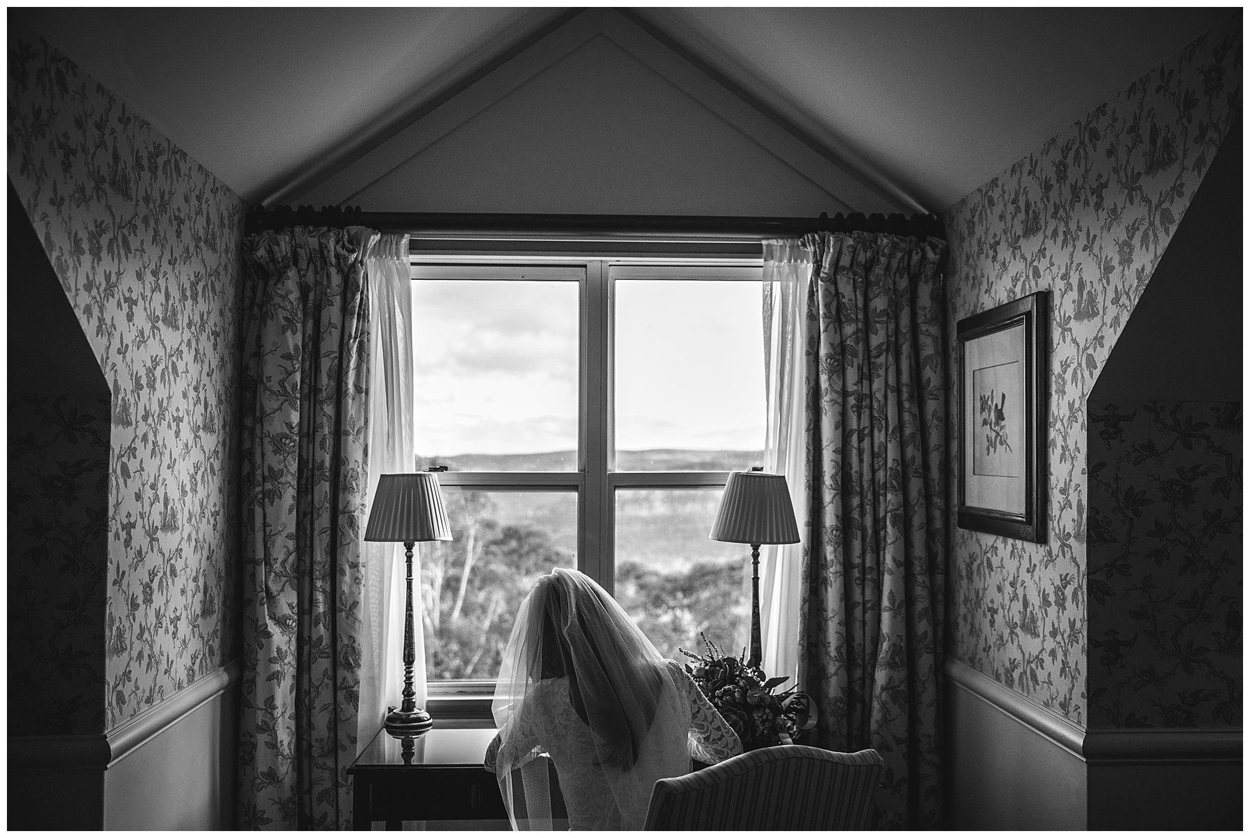 The bride writing her vows at Lillianfels Resort - Blue Mountains