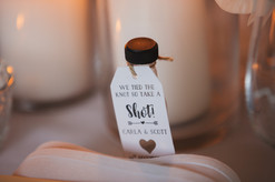 Wedding Favours - We tied the knot so take a shot