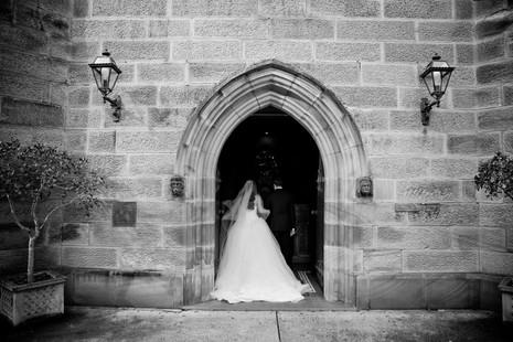 the bride enters the sydney greek orthodox church