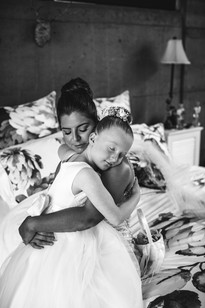 Special moment between step-daughter and step-mother before the wedding day