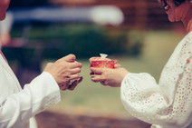 professional wedding photographer de lumiere photography the brides holding teacups