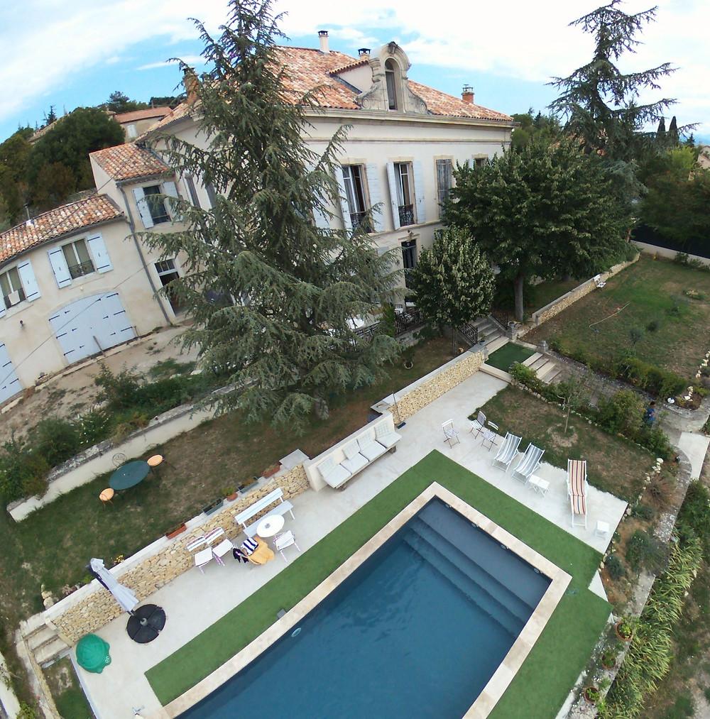 vue aérienne de la villa Saint Marc