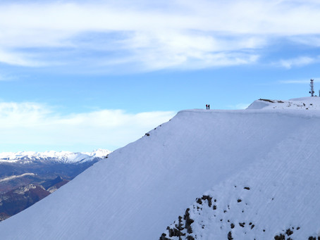 Il neige sur la montagne de Lure