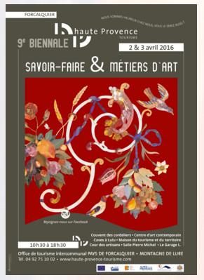 9 ieme biennale du savoir- faire et des métiers d'art a Forcalquier