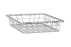 Procedure cart with Stainless steel wire basket