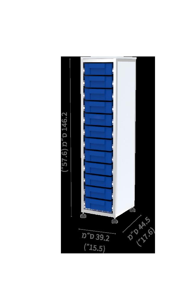 מערכת SIMA חצי גובה בודד 12 מגירות תאים