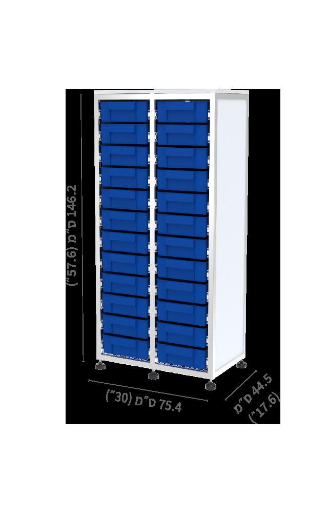 מערכת SIMA חצי גובה כפול 24 מגירות תאים