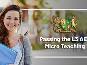 Passing the Level 3 Award in Education and Training micro teaching