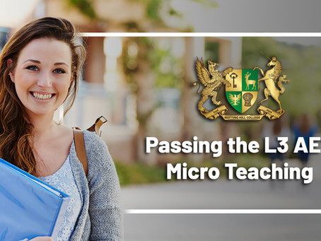Passing the L3 AET Micro Teaching
