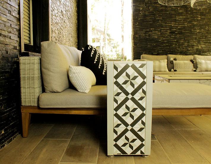 Table - Gray Pinwheel