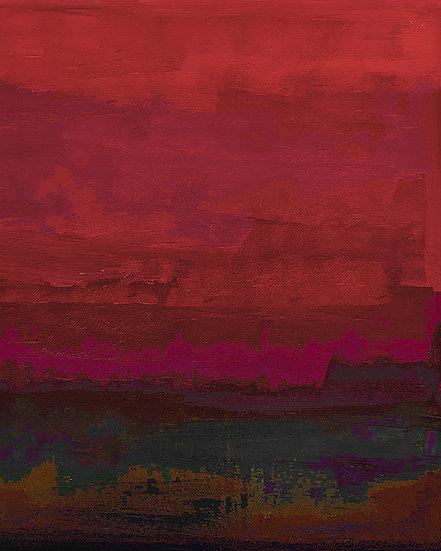 On the Lake - Carmine Crimson