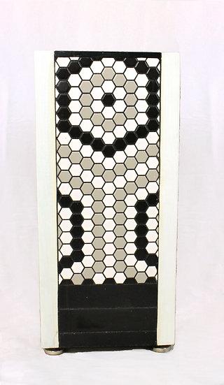 Table - White Hexagon Mosaic