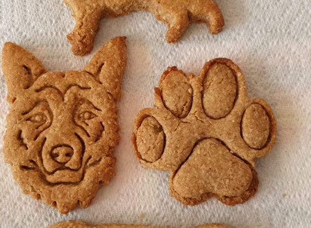 Janet has been baking again - Lucky dogs!