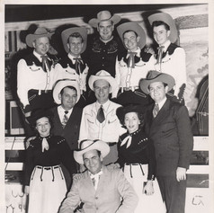 with Tommy Duncan (middle row. left) and Merle Travis (middle row, right), Cotton's Club, Belmont CA, 1953