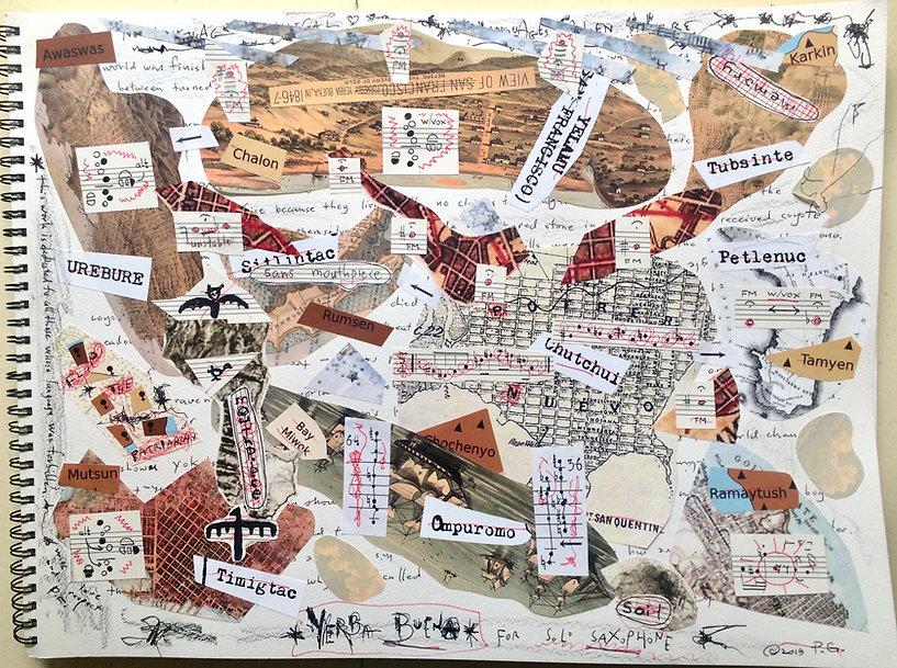 MAP SCORES - YERBA BUENA for solo saxoph