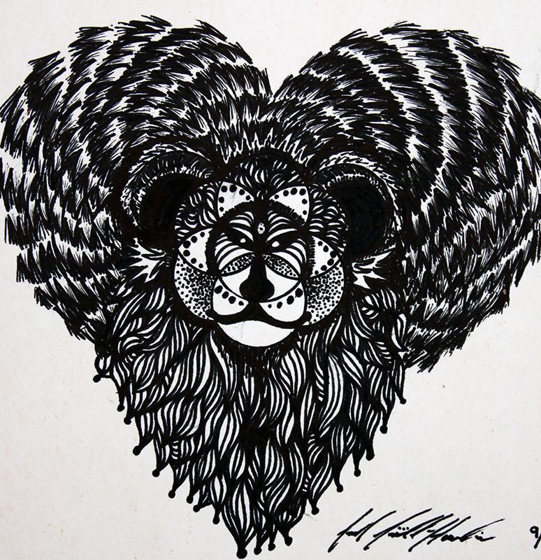 Sacred Geometry Lion Bear Heart Creature