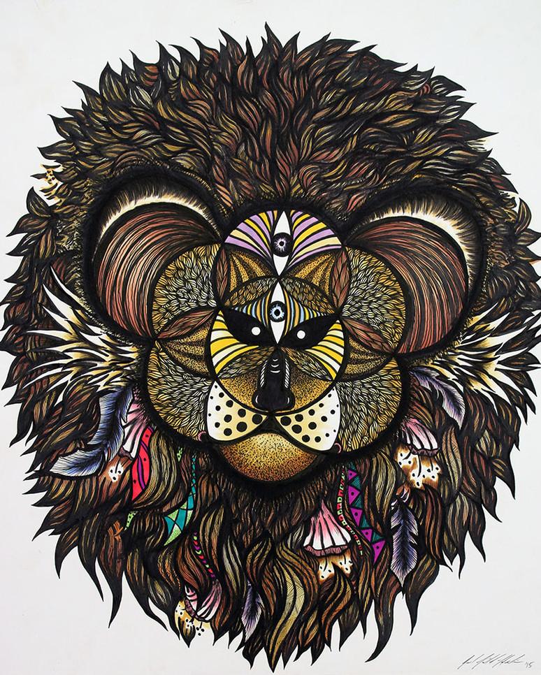 Sacred Geometry Lion