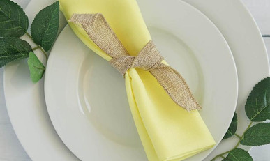 20 In. Butter Yellow Napkins