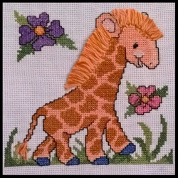 Cross Stitch Giraffe